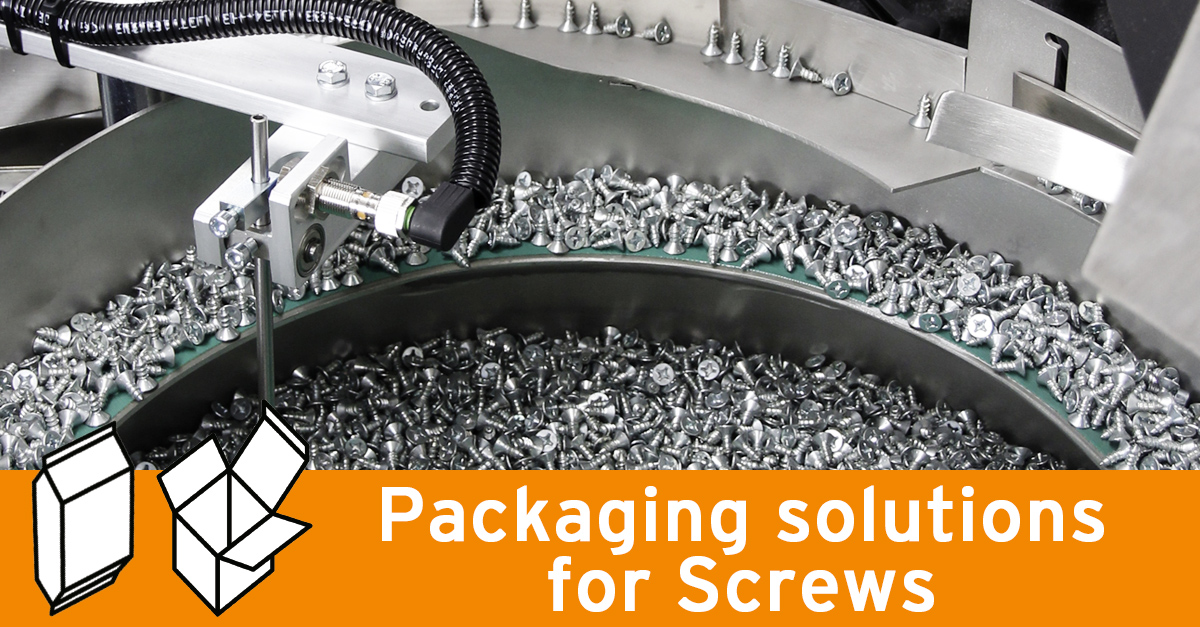 Packaging solutions for screws