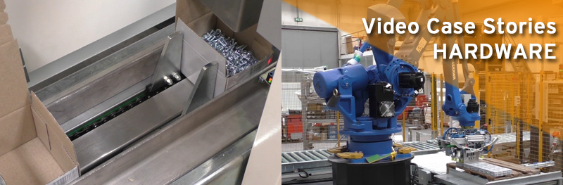 HARDWARE Video Case Stories Packing and palletizing line